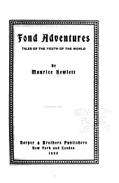 Fond Adventures: Tales of the Youth of the World