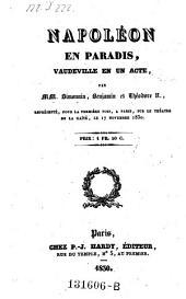 Napoleon en paradis, vaudeville en 1 acte