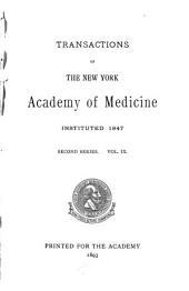 The Transactions of the New York Academy of Medicine