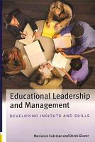 Educational Leadership And Management  Developing Insights And Skills PDF