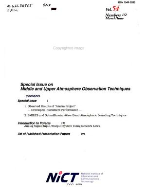 Journal of the National Institute of Information and Communications Technology PDF