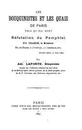 Les bouquinistes et les quais de Paris tels qu'ils sont: réfutation du pamphlet d'O. Uzanne ...