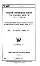 Federal Expenditure Policy for Economic Growth and Stability PDF