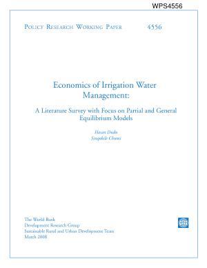 Economics of Irrigation Water Management PDF