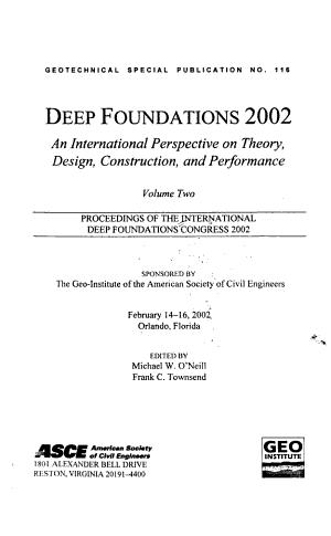 Deep Foundations 2002 PDF