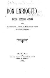 Don Enriquito: Novela histórica cubana