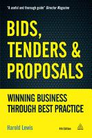 Bids  Tenders and Proposals PDF