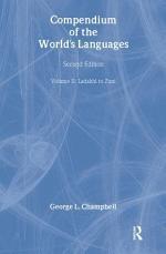 Compendium of the World's Languages: Ladakhi to Zuni