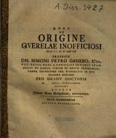 De Origine Qverelae Inofficiosi