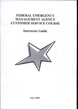 Federal Emergency Management Agency Customer Service Course PDF