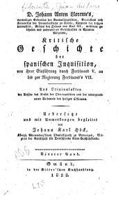 Kritische Geschichte der spanischen Inquisition ...