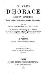 Oeuvres: Éd. classique, avec une notice, des remarques sur la langue et la métrique [etc.]