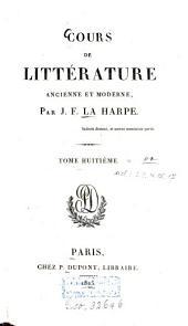 Cours de Littérature Ancienne Et Moderne: Volume 8, Page 2