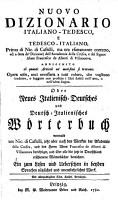 Nuovo Dizionario Italiano Tedesco  E Tedesco Italiano  Oder Neues Italienisch Deutsches und Deutsch Italienisches W  rterbuch PDF