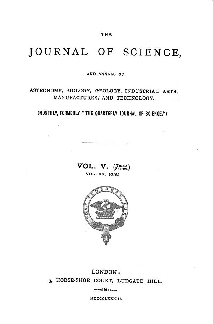 The Journal of Science
