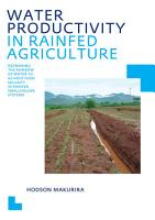 Water Productivity in Rainfed Agriculture PDF