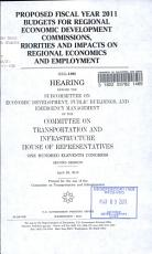 Proposed Fiscal Year 2011 Budgets for Regional Economic Development Commissions  Priorities and Impacts on Regional Economics and Employment PDF