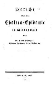 Bericht über die Cholera-Epidemie in Mittenwald