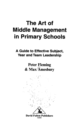 The Art of Middle Management in Primary Schools PDF