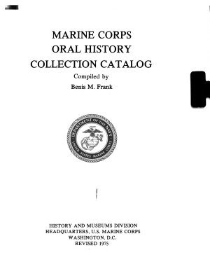 Marine Corps Oral History Collection Catalog PDF