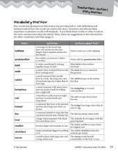 The Mitten Vocabulary Activities