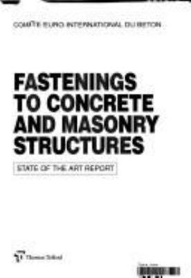 Fastenings to Concrete and Masonry Structures PDF