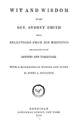 Wit and Wisdom of the Rev  Sydney Smith PDF