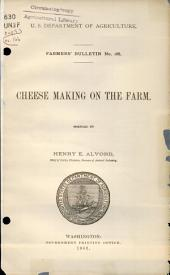 Cheese making on the farm