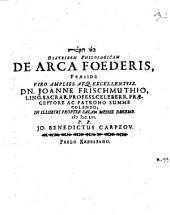 Diatriben philologicam de arca foederis