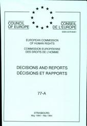 Decisions and reports: Décisions et rapports