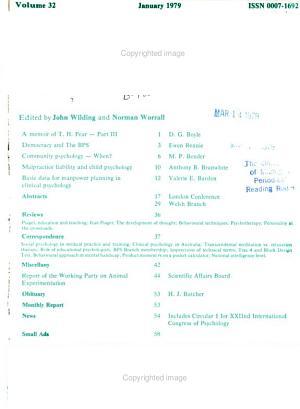 Bulletin of the British Psychological Society PDF