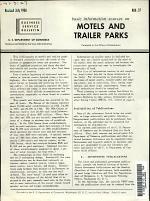 Basic Information Sources on Motels and Trailer Parks