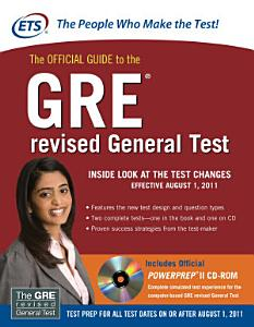 The Official Guide to the GRE revised General Test Book