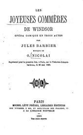 Les joyeuses commères de Windsor: opéra comique en trois actes par Jules Barbier