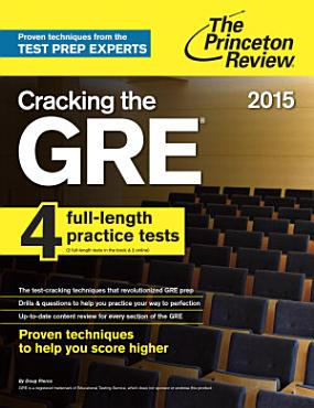 Cracking the GRE with 4 Practice Tests  2015 Edition PDF