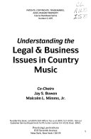 Understanding the Legal   Business Issues in Country Music PDF
