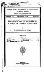 Food Habits of the Swallows: A Family of Valuable Native Birds