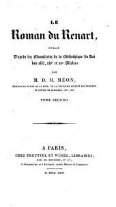 Le Roman du Renart: Volume2