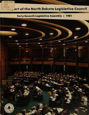Report of the North Dakota Legislative Research Committee