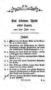 Leben des Herrn Nicolaus Ludwig Grafen und Herrn von Zinzendorf und Pottendorf: Band 7