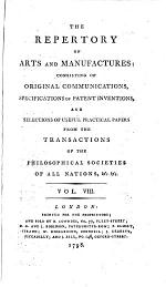 The Repertory of arts and manufactures [afterw.] arts, manufactures and agriculture
