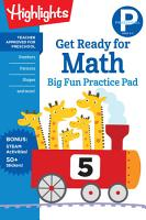 Preschool Get Ready for Math Big Fun Practice Pad PDF