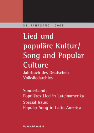 Lied und popul  re Kultur Song and Popular Culture