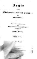Archio fur bad Gtudiumder neueren prachen and literaturen PDF