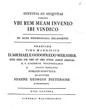 Iustitia ac aequitas canonis, ubi rem meam invenio ibi vindico: Volume 2