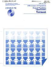 1990 Census of Population: General population characteristics. Vermont
