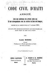 Code civil d'Haïti, annoté