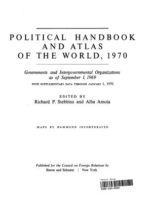 Political Handbook and Atlas of the World  1970