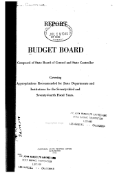 Budget Submitted to the California Legislature