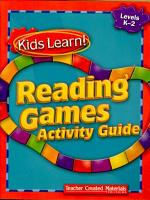Kids Learn  Reading Games  Grades K 2 Kit PDF